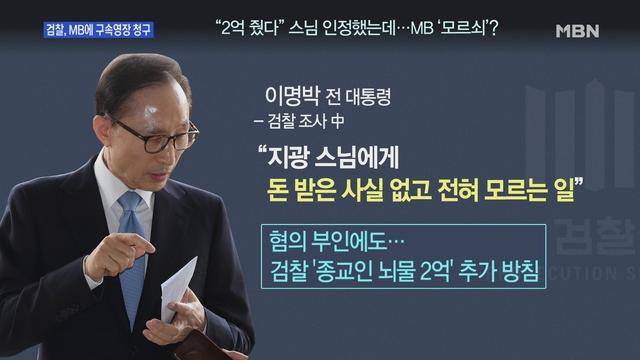 [송지헌의 뉴스와이드] 검찰, 이명박 전 대통령에 '구속영장 청구'…MB의 운명은?