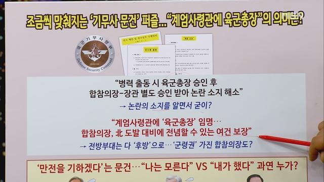 """[송지헌의 뉴스와이드] 조금씩 맞춰지는 '기무사 문건' 퍼즐…""""계엄사령관에 육군총장"""" 의미는?"""