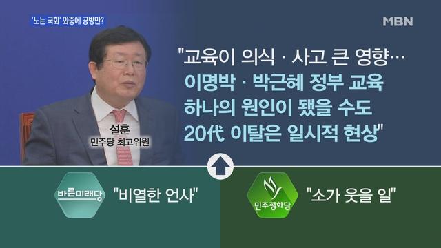 """[백운기의 뉴스와이드] 2월 '노는 국회' 공방만?…설훈 """"20대 지지율 하락, MB·朴정부 교육 탓""""?"""