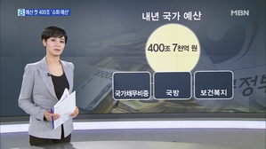 정부, 내년 예산 첫 400조 '슈퍼 예산'