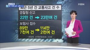 김주하의 3월 8일 뉴스초점-'법' 뒤에 숨은 교통사고