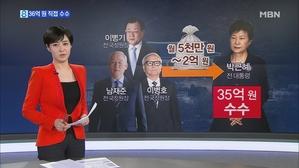박근혜, 국정원 활동비 36억 5천만 원 직접 수수
