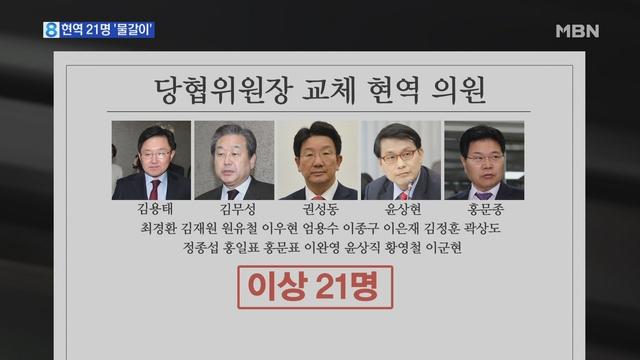 한국당, 당협위원장 대거 교체…현역 의원 21명 물갈이