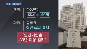 '육체 정년' 65세 판결...