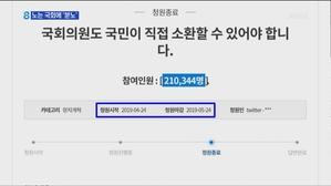 노는 국회에 '분노'…'국회의원 소환제' 청원 21만 명