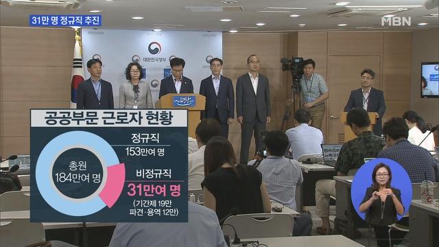"""""""정규직 된다니 기뻐요""""…31만 명 정규직화 추진"""