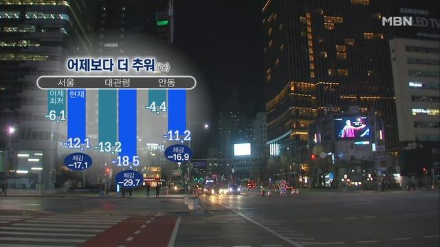 출근길 '꽁꽁'…충남·호남 내일까지 눈