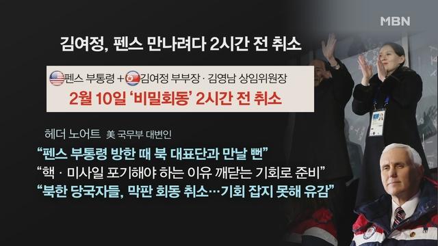 [김은혜의 정가 이슈] 펜스-김여정 청와대 회담…'북한이 먼저 제의'→'포기' 왜?