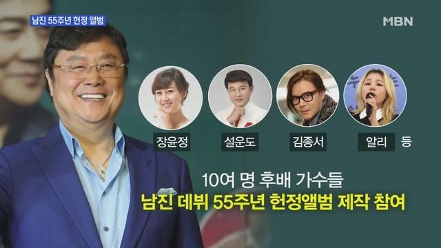 [MBN 뉴스앤이슈-별별룸] 남진 55주년 기념 헌정앨범 제작…장윤정·이자연 등 뭉쳤다