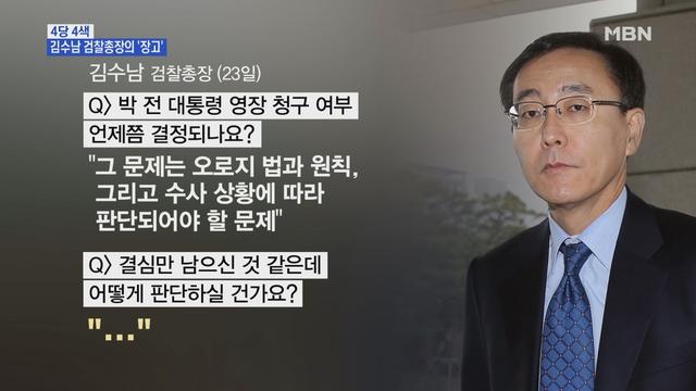 MBN 뉴스파이터-김수남 검찰총장의 '장고'