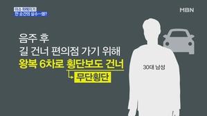MBN 뉴스파이터-무단횡단하다…30대 가장, 뺑소니차량에 ...