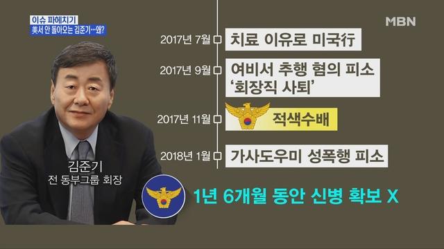 MBN 뉴스파이터-미국서 버티는 김준기…경찰, 강제송환 착수