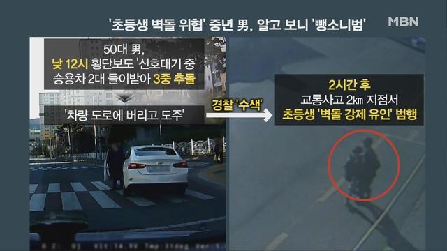[MBN 뉴스빅5] 대낮 도서관 앞에서 벌어진 '초등생 납치극'