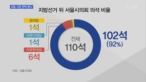[서울] 여당이 92% 차지한 서울시의회…박원순 시정 탄력 전망